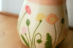 Icelandic Poppies Utensil Holder/Large Vase - Detail