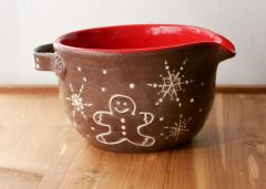 Iced Gingerbread Family Batter Bowl
