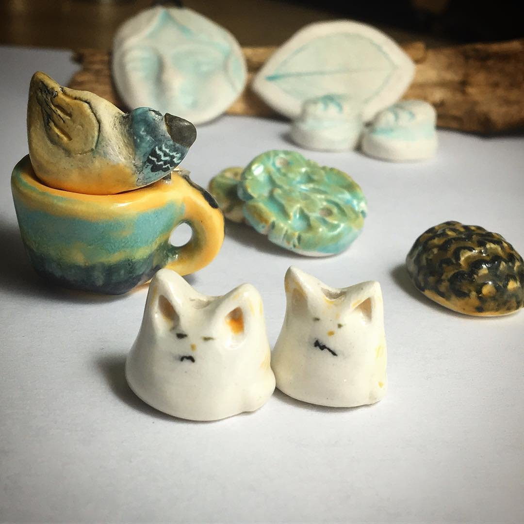 Beads Pendants Cabs Minis Low Fire Ceramics