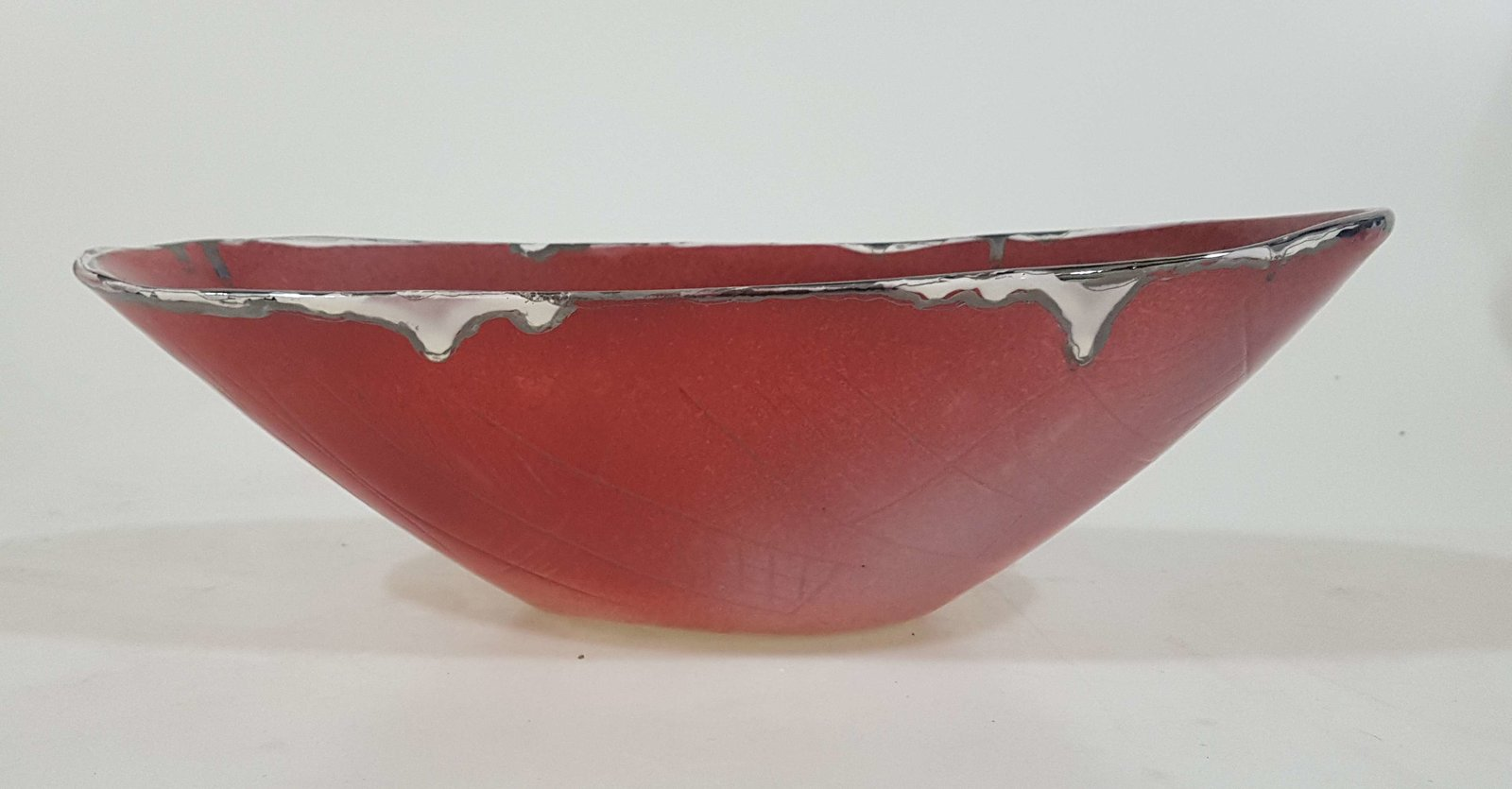 Red and White bowl