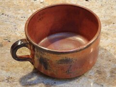 Amaco Ancient copper mug1
