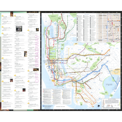 Nyc Subway Map 1989.1989 Theaters In New York City Subway And Bus Guide Subway Maps