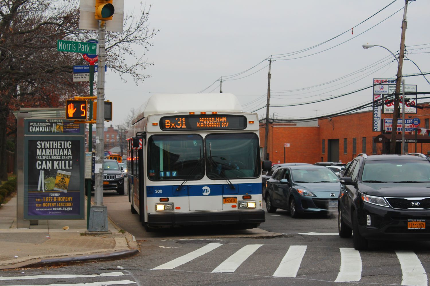 MTA NYC Bus New Flyer C40LF CNG 300 with Luminator Spectrums