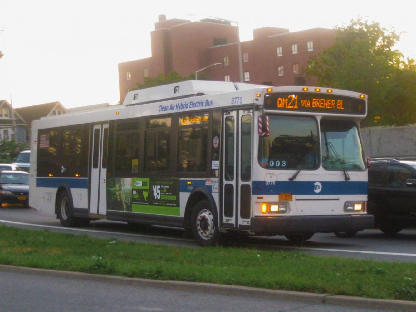 2007 Orion VII Hybrid 3770 on the QM21 at Eliot Avenue/ Queens Blvd