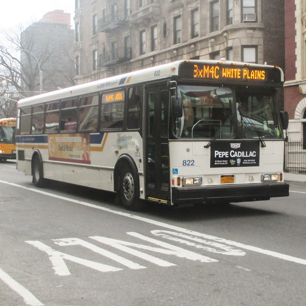 A Bee-Line bus on the BxM4C at 125th Street and Lexington Avenue.