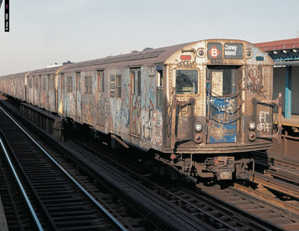 B Train R-27 Subway Car in 1990
