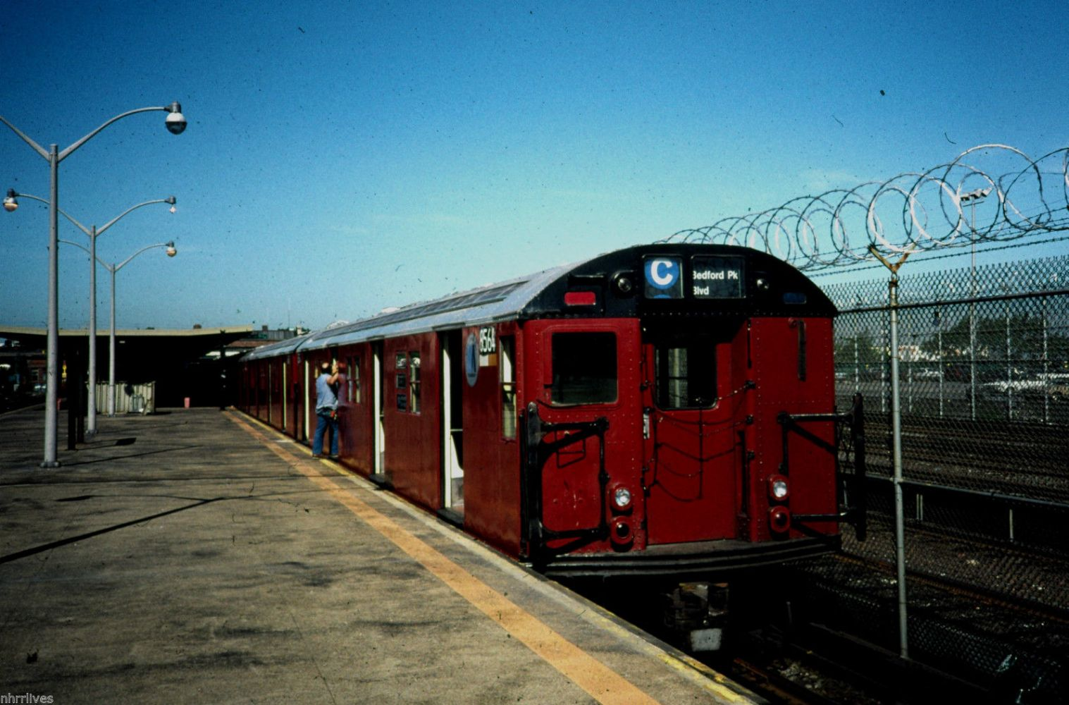 NYC SUBWAY 5x7 PRINT R 30 #8564 AT ROCKAWAY PARK JUNE 1990
