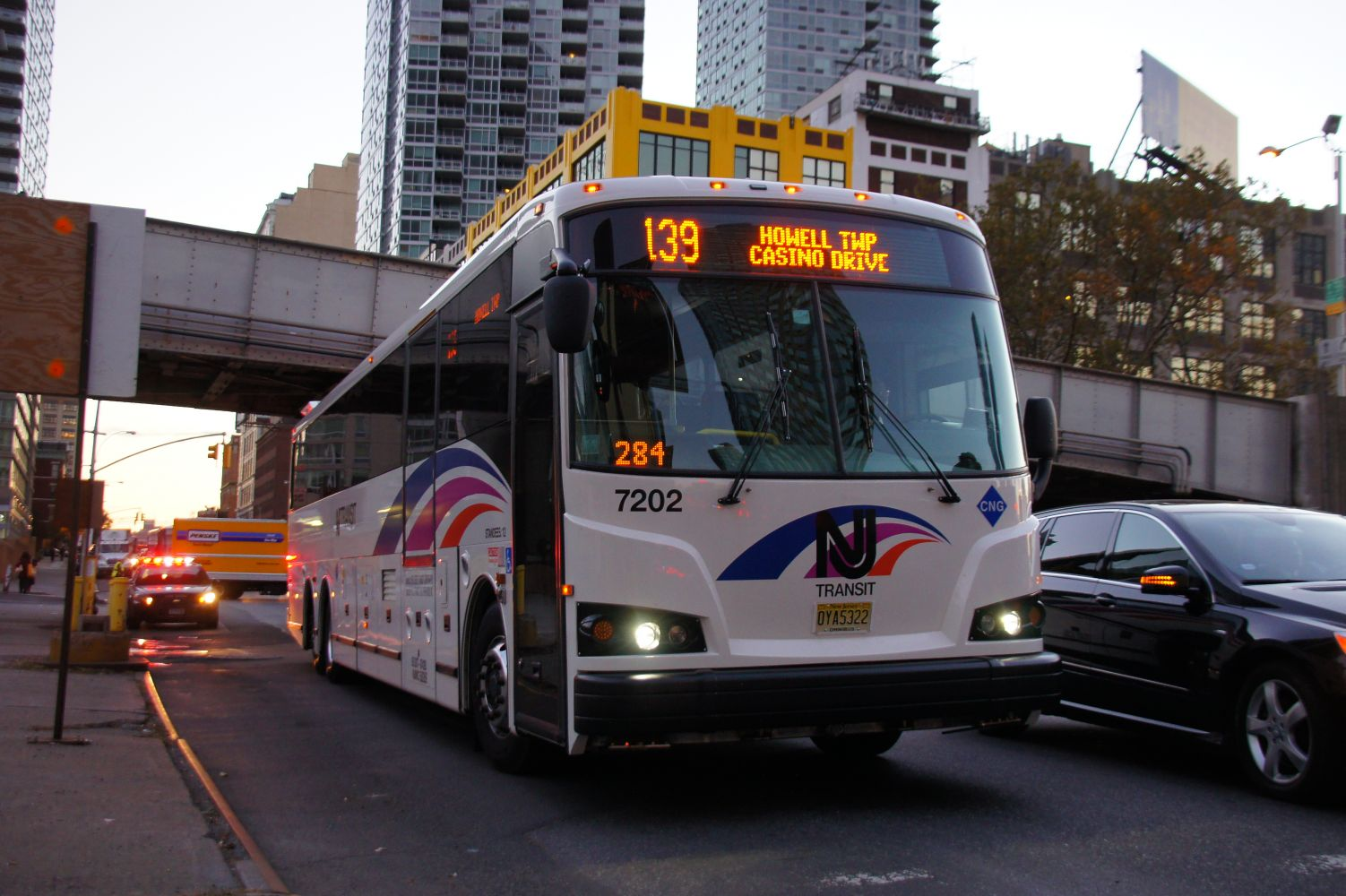 New Jersey Transit 2012 Designline ECOCoach CNG Commuter 7202