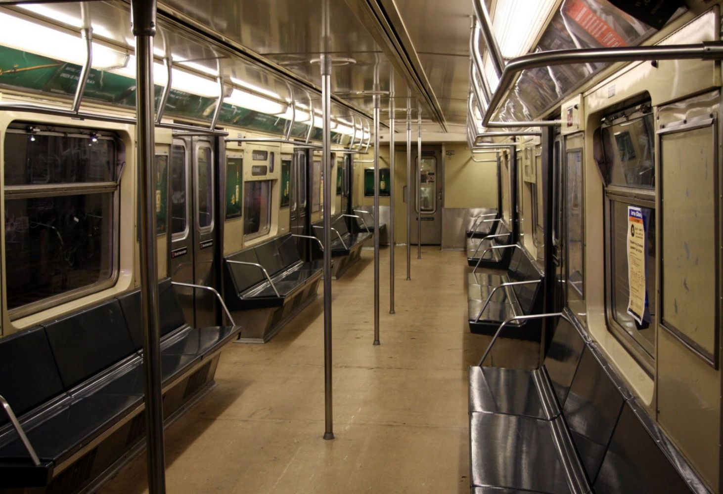 NYCTA R 40 Slant Car 4219 Interior