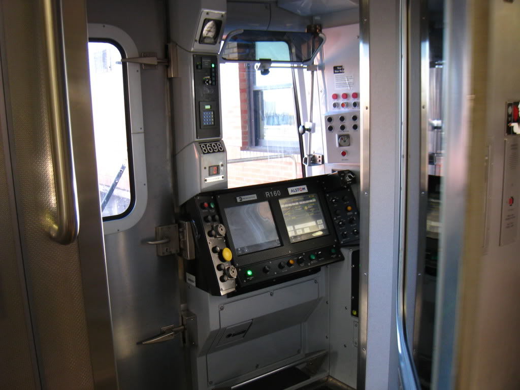 Inside the R160A Cab (Not Fully Shown)