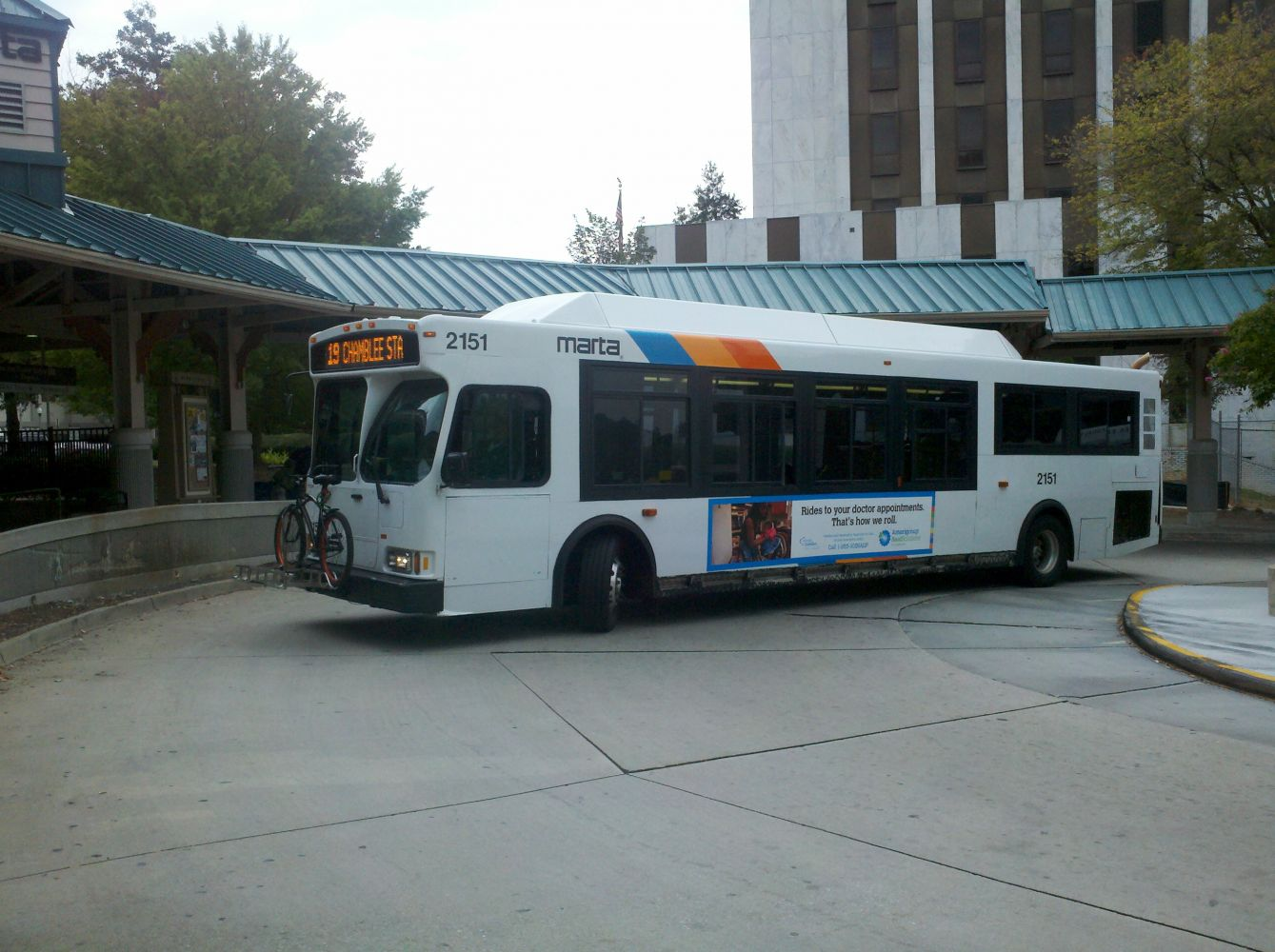 2002 Orion Bus Industries VII CNG MARTA Bus#2151