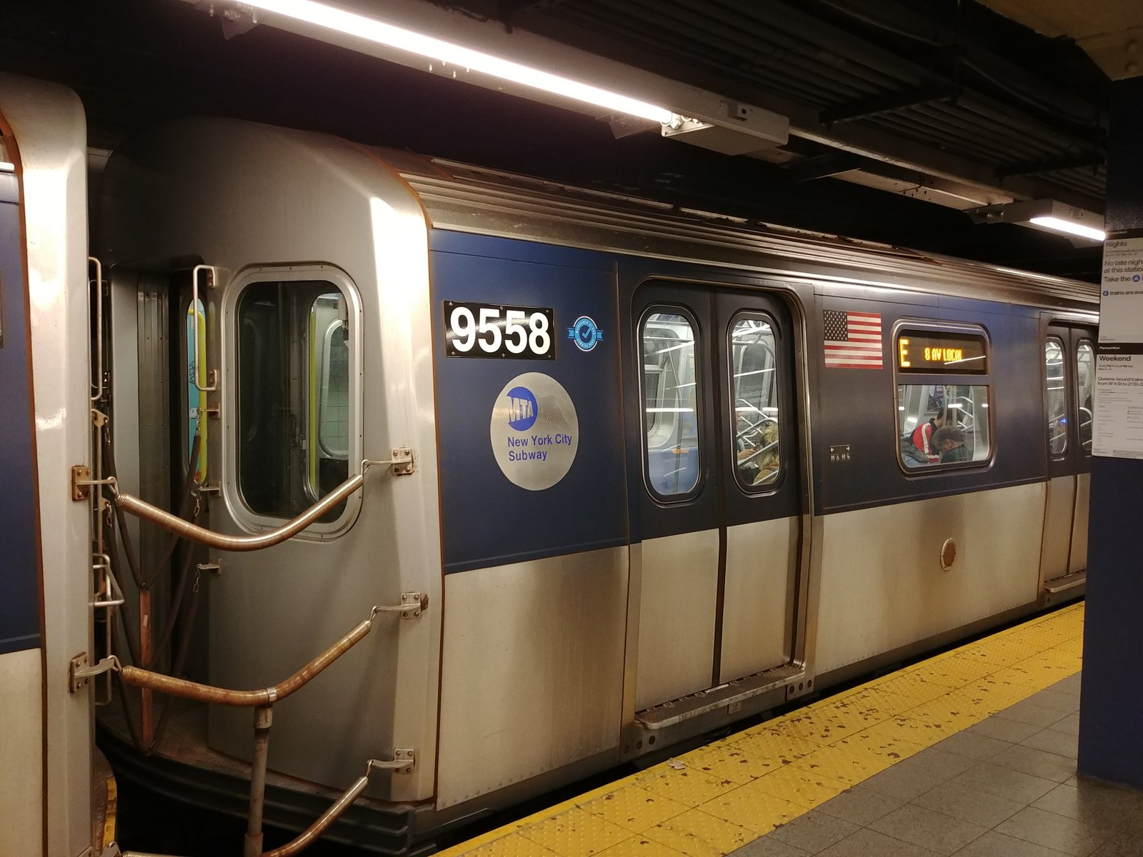 Remodeled E Train (car 9558)