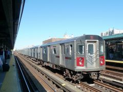 Twenty R142 cars at 161 Street