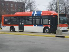 NICE Bus 1844 on layup at Hempstead Transit Center