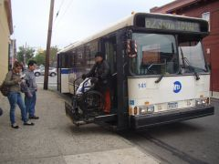 MTA Bus 1995 OBI Orion V #141 (former bee-line #441) on the Q23