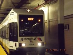 Newark Light Rail train to Broad Street At Newark Penn Station