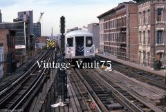 ORIGINAL SLIDE NYC SUBWAY BMT NYCTA NY KODACHROME 1987 MYRTLE BROADWAY