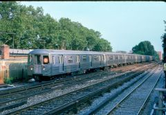 R-68 (D) Line at the Aquaduct Station in 1988