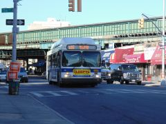 B16 - Bay Ridge Bus arriving at 13th Avenue/56 Street.