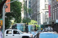 NYCT and MTAB buses along Madison ave
