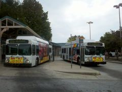 2001 New Flyer Industries C40LF-MARTA Bus #2892 & 2862 At Decatur Station