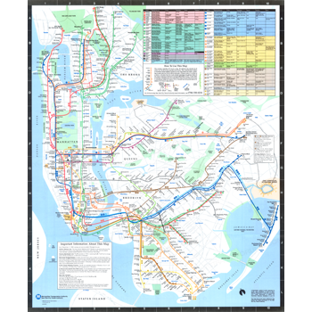 1987 Subway Map.1988 New York City Transit Authority Subway Map Subway Maps Nyc