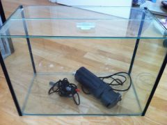 "FS: 20"" tank + Sicce Shark2 Internal Filter + Heater"