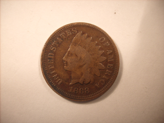 1868 indian head error - brockage? help need info    - Error