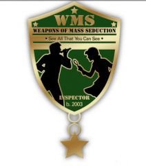 Weapons of Mass Seduction Pin