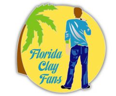 Florida Clay Fan Pin (Miami Shirt)