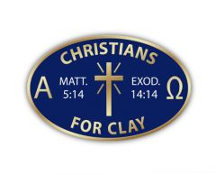 Christians for Clay Pin