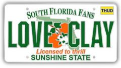 South Florida Clay Fans Pin