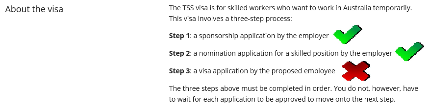 482 TSS Visa Rejected - Questions related to applying for a