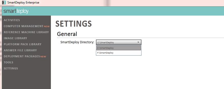 Change Smart Deploy Directory - SmartDeploy Enterprise