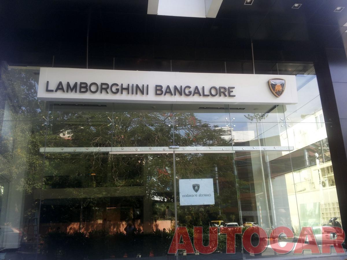 Lamborghini S Upcoming Showroom In Bangalore Indian Cars Autocar