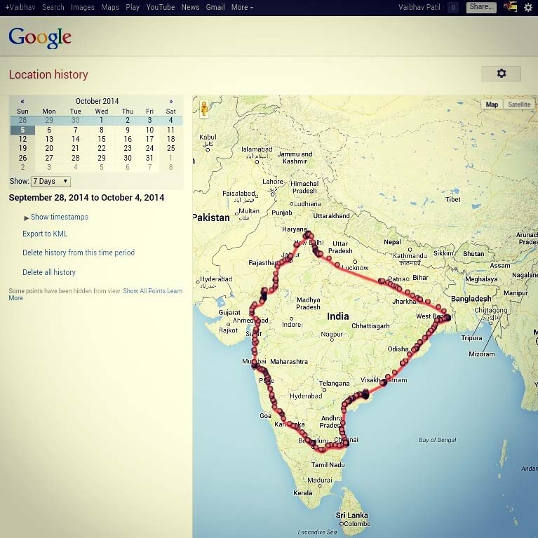 Golden Quadrilateral Map 7 Days   6124 kms   13 states   one Epic Ring Route   the Golden