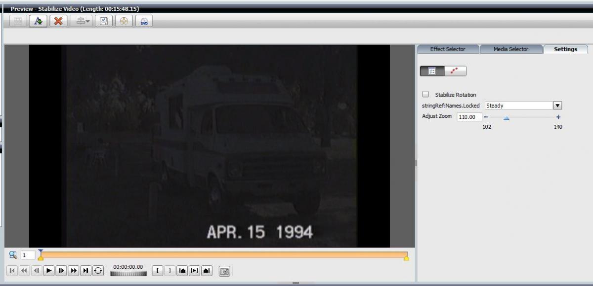 Videowave Stabilization Settings Don't Appear -
