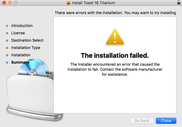Toast 16 Titanium For Mac Fails To Install - Toast 15 - Roxio Community