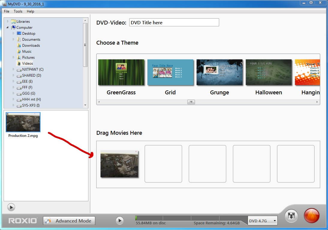 mydvd won t let me burn disk of my home movie how to and rh forums support roxio com