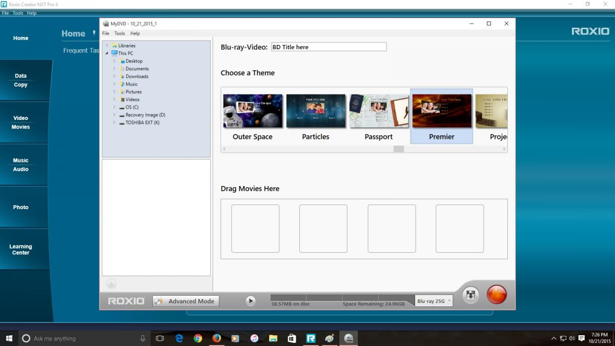 just purchased nxt 4 how to and usability roxio community rh forums support roxio com Roxio MyDVD Le Roxio Creator