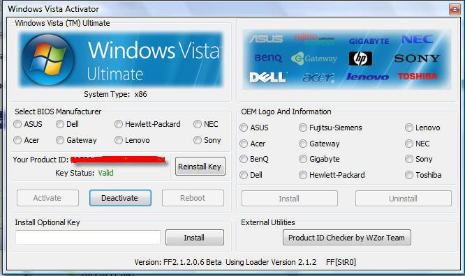 Vista - OEM Serial Key