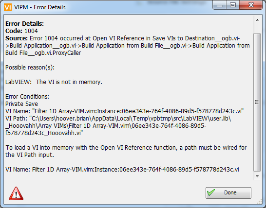 VIM Package Fails Build if Renaming - VI Package Manager (VIPM