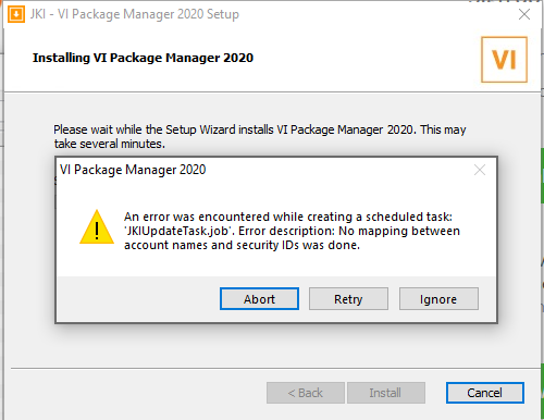 VIPackage Manager Install Error.PNG