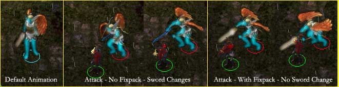 Celestial Weapons Lose Glowing Effects When Attacking