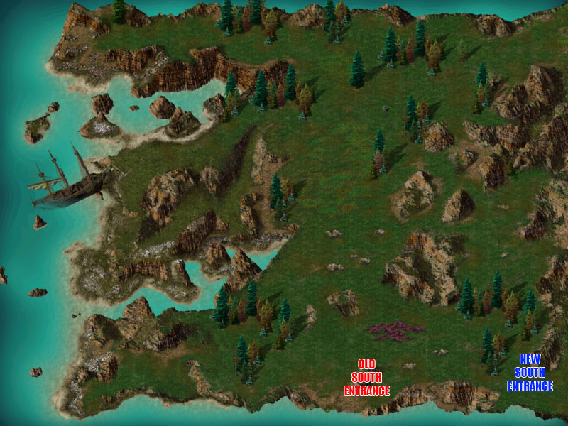 Sensible Entrance Points: BG Shipwreck Map