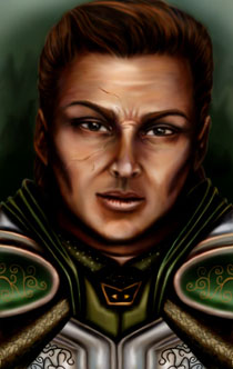 Ajantis, by Catlepha (front faced portrait)