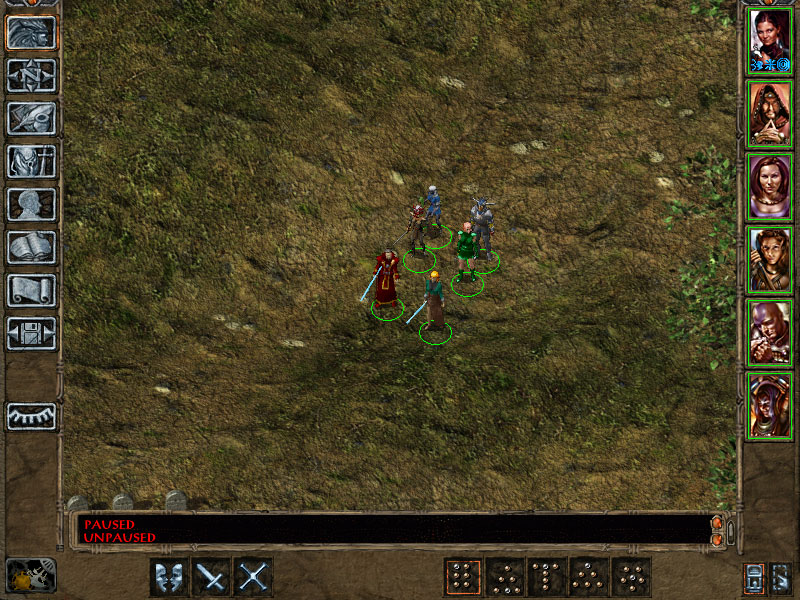 Original BG2 screenshot of all NPCs