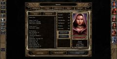 Imoen's record sheet in BG2EE