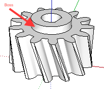 Hole through gear - 3D modeling software - Ultimaker Community of 3D