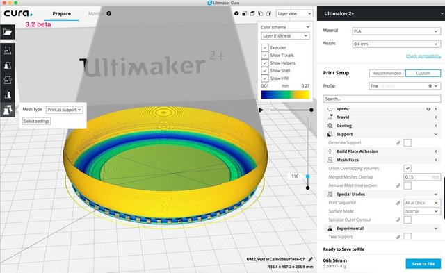 Ultimaker_Cura 3.2 beta per model support vase.jpg